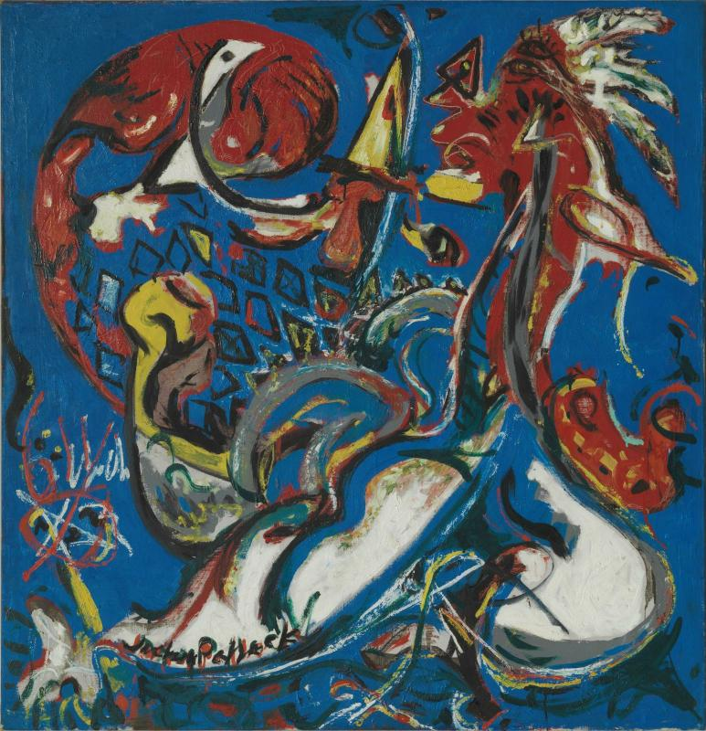 Jackson Pollock, The Moon-Woman Cuts the Circle (La femme-lune coupe le cercle) 1943