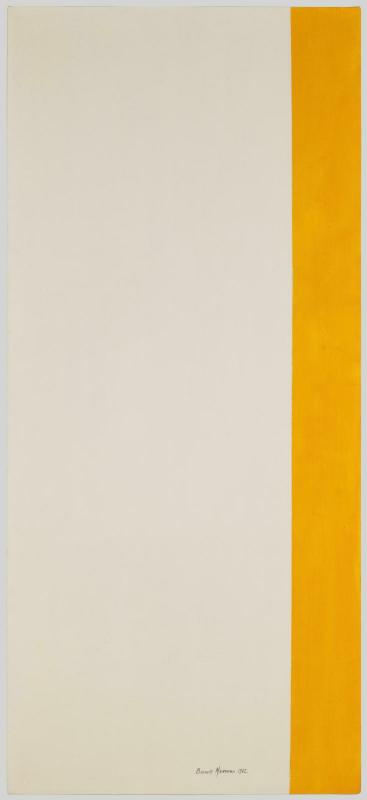 Barnett Newman, « Not There-Here » (Pas là, ici), 1962 - repro oeuvre