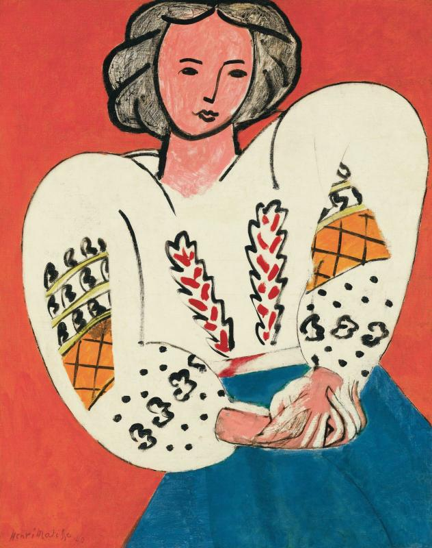 Henri Matisse, La Blouse roumaine avril 1940