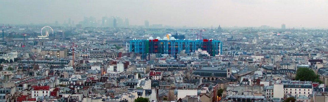 Vue panoramique du Centre Pompidou Paris