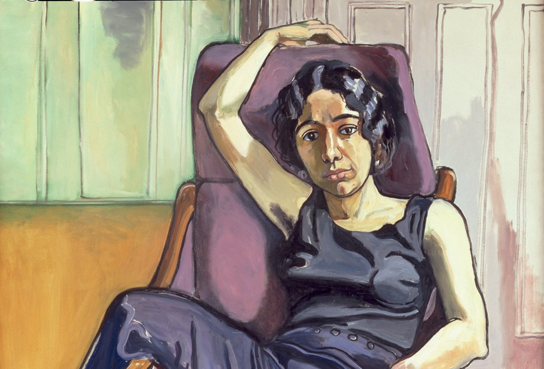 Alice Neel, « Marxist Girl, Irene Peslikis », 1972 - repro œuvre (détail)