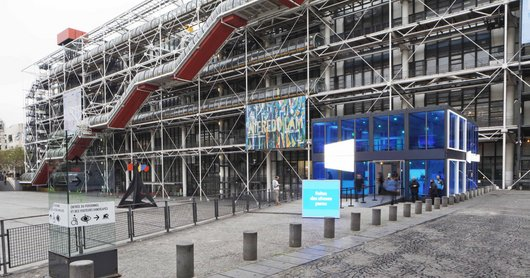 Vue du Triangle Piazza Centre Pompidou