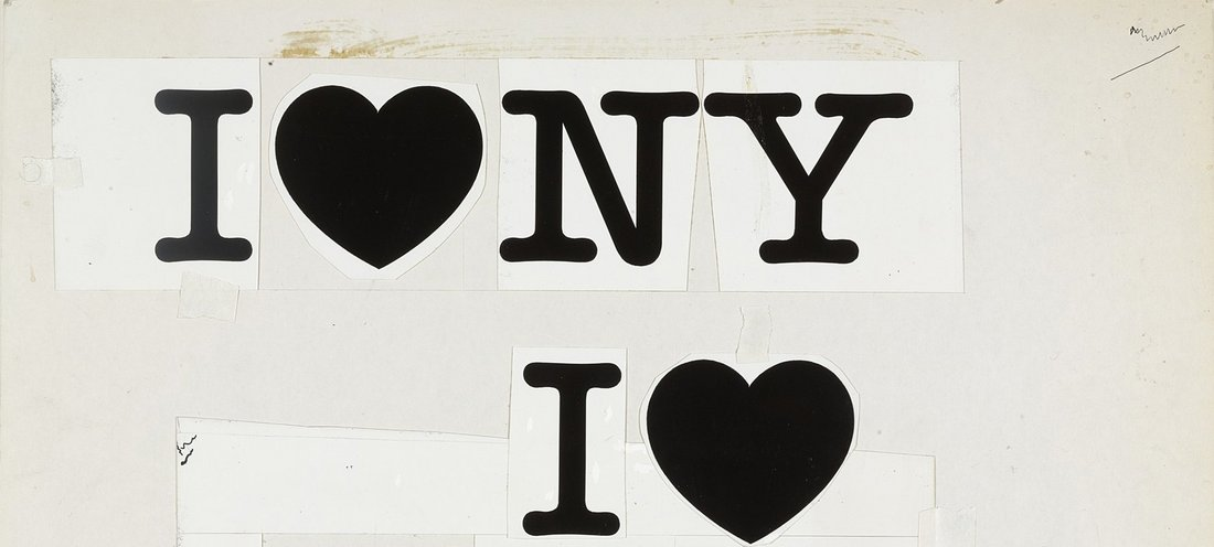 Milton Glaser, « I ♥ NY concept layout », 1976 - repro oeuvre