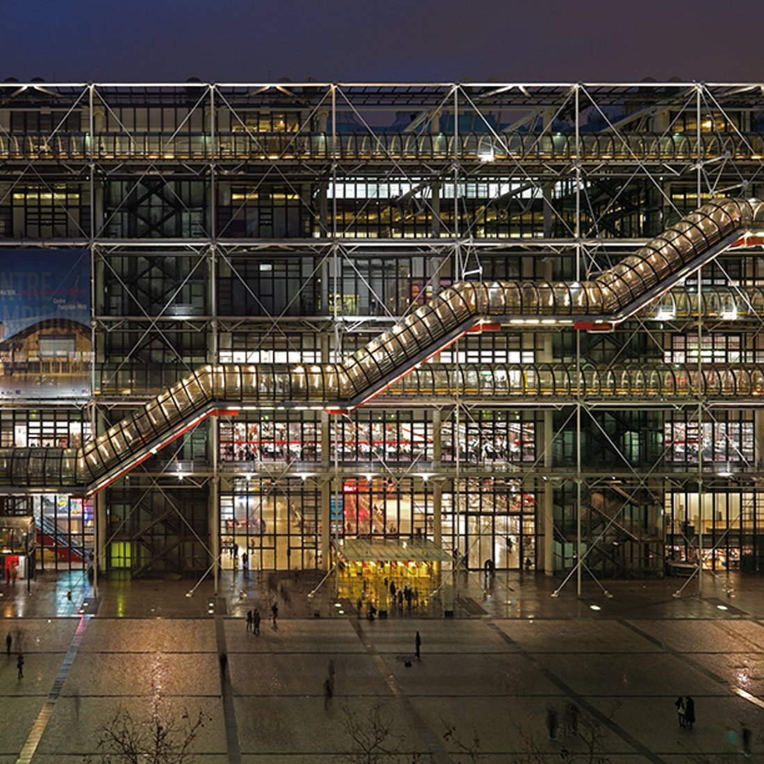 Podcast In the Centre Pompidou'Pipes - View at night