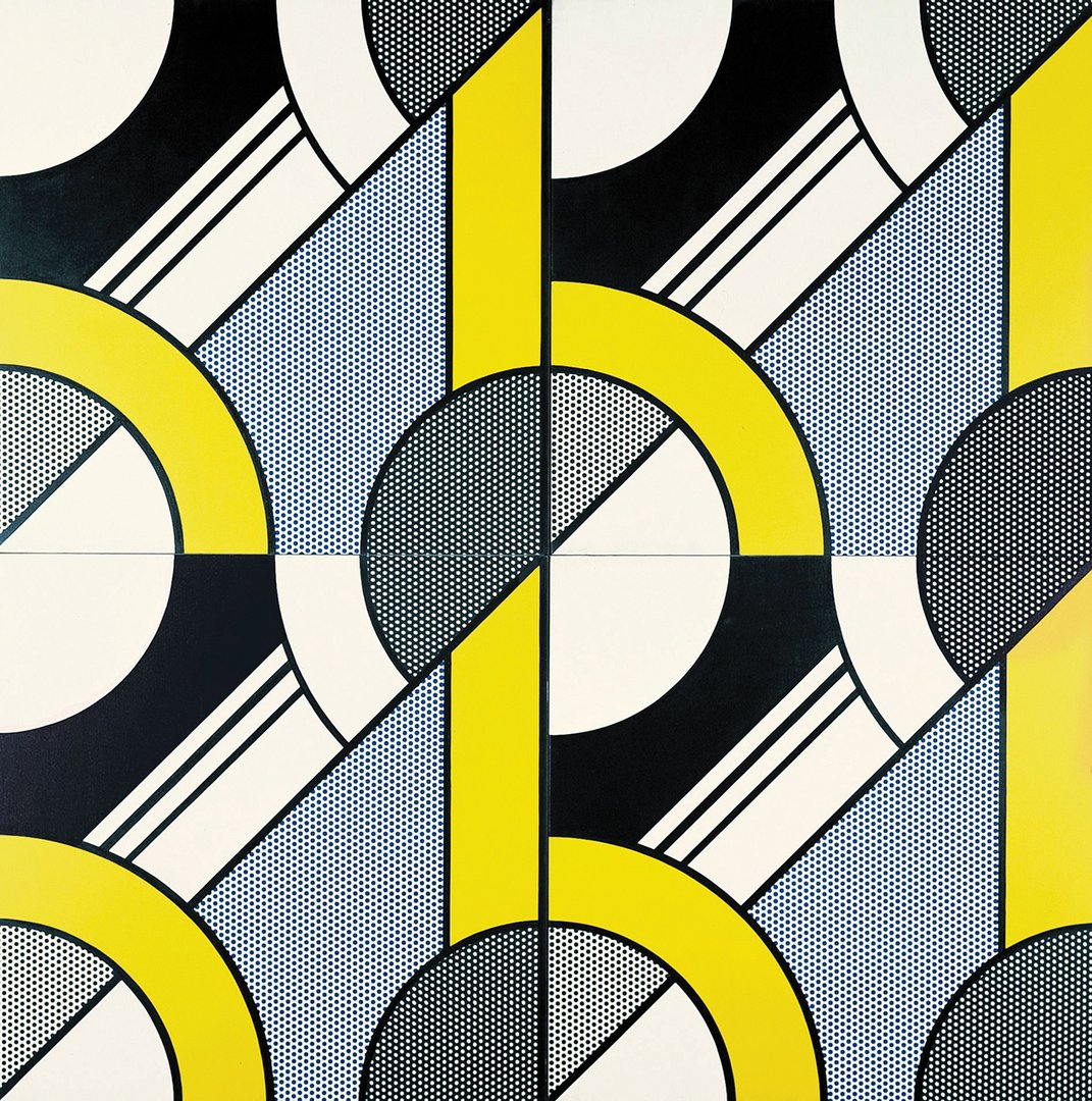 "Roy Lichtenstein, ""Modular Painting with Four Panels, #4"", 1969 - repro oeuvre"