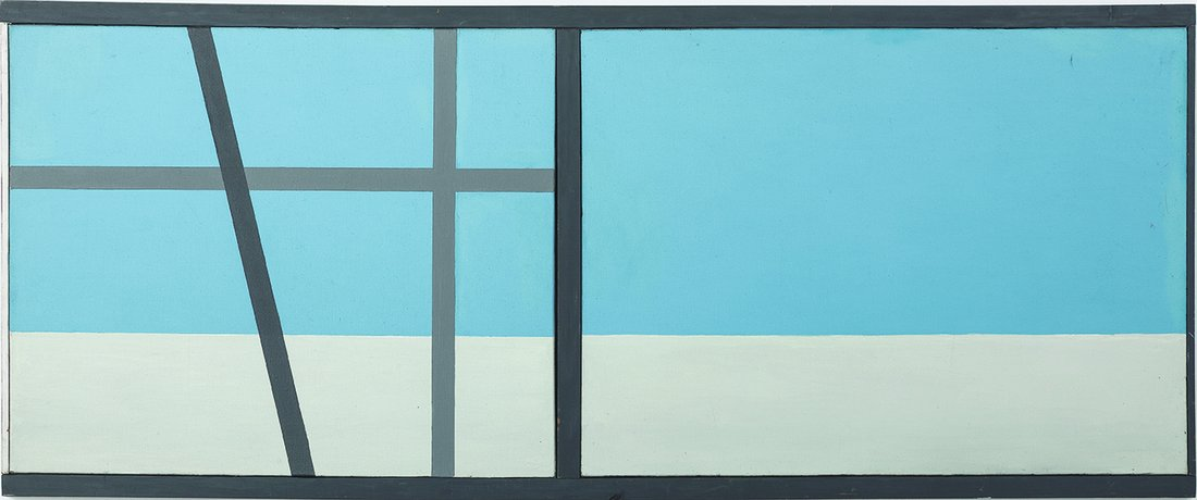"Ellsworth Kelly, ""Window VI"", 1950 - repro oeuvre"