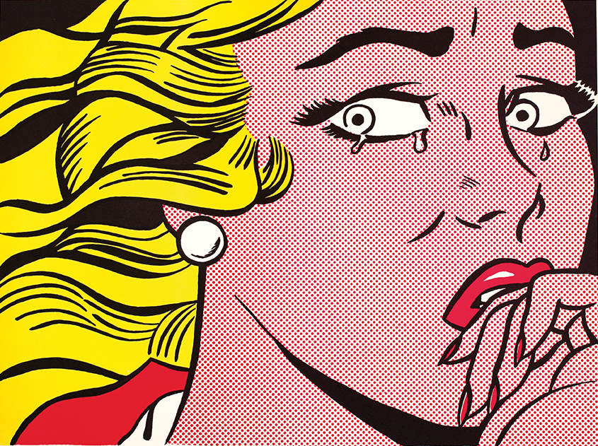 Roy Lichtenstein, « Crying Girl », 1963 - repro oeuvre