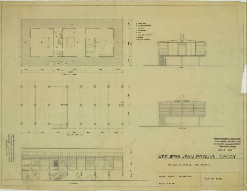 Maison Coloniale Sur Pilotis Centre Pompidou