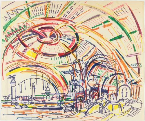 L 39 uvre grand palais nef et grande verri re centre pompidou - Verriere externe ...