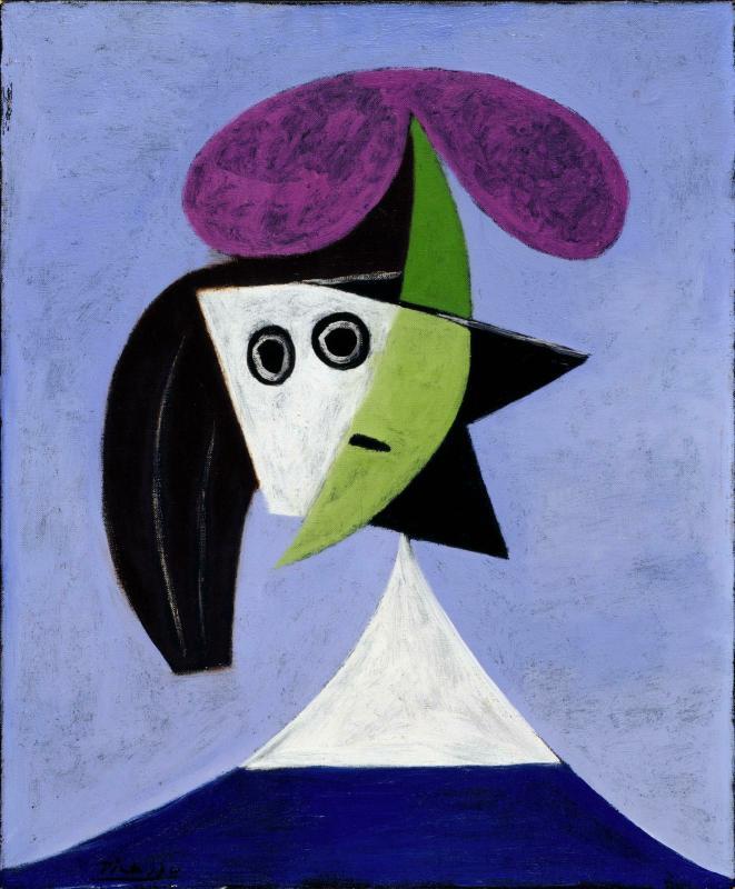 L\'œuvre Femme au chapeau - Centre Pompidou