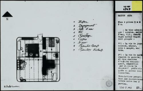 plan maison 9mx9m