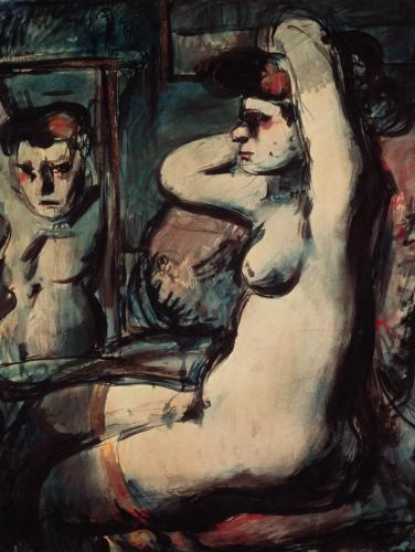 L 39 uvre fille au miroir centre pompidou for Fille au miroir