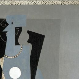 pablo picasso arlequin et femme au collier