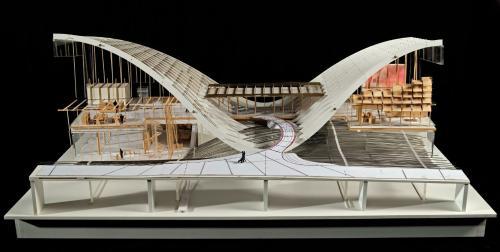l 39 uvre maquette d 39 tude centre pompidou. Black Bedroom Furniture Sets. Home Design Ideas