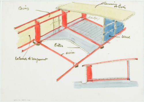 L 39 uvre maison de jean prouv nancy principe constructif centre pompidou - Maison de jean prouve ...