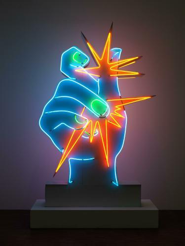 L 39 uvre america america centre pompidou for Neon artiste contemporain