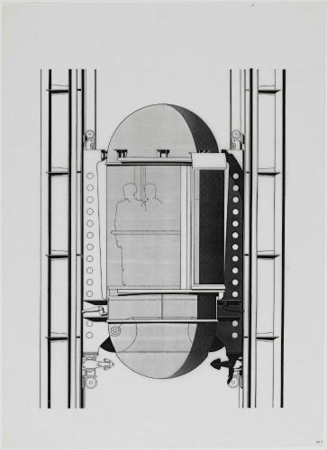 l 39 uvre etude pour une cabine d 39 ascenseur centre pompidou. Black Bedroom Furniture Sets. Home Design Ideas